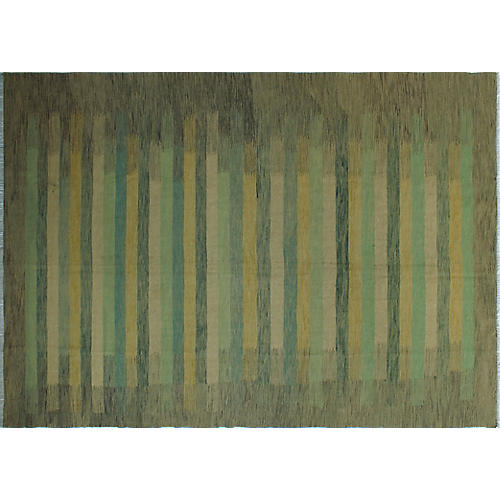 "9'6""x12'10"" Winchester Maude Rug, Gray/Gold"