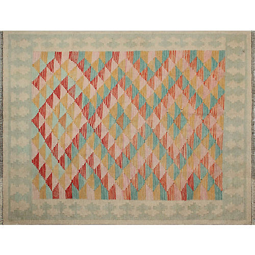 """5'1""""x6'4"""" Winchester Azra Rug, Pink/Gold"""