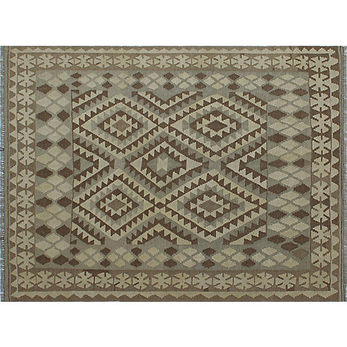 """5'2""""x6'9"""" Winchester Bilal Rug, Ivory/Brown"""