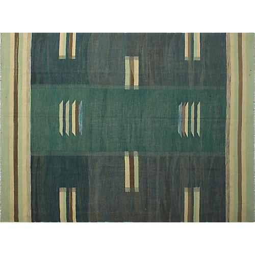 "9'11""x12'10"" Winchester Athar Rug, Green/Blue"