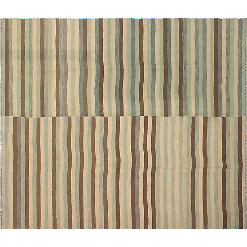 """8'5""""x9'6"""" Winchester Ouissal Rug, Ivory/Brown"""