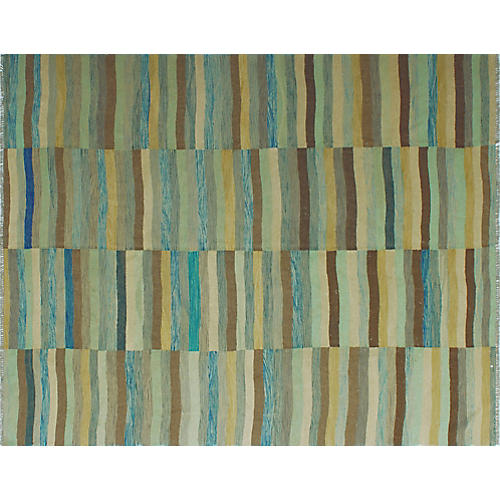 "8'2""x9'7"" Winchester Shirinad Rug, Blue/Gray"