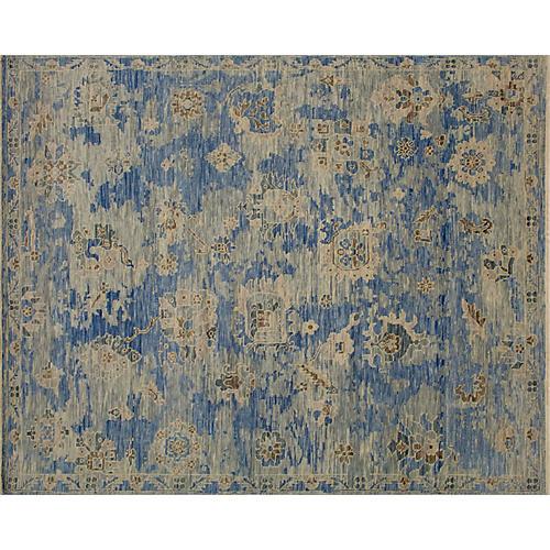 8'x10' Ayman Oushak Rug, Blue/Gray
