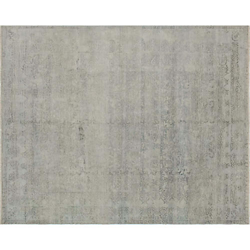 "8'x9'10"" Erase Shideh Rug, Gray/Charcoal"