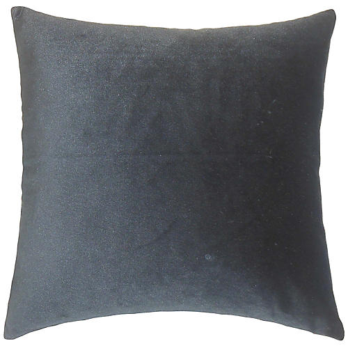 Andorra Pillow, Charcoal Velvet
