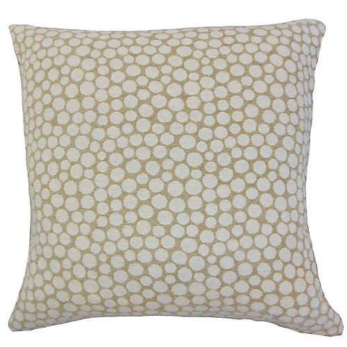 Ella Pillow, Beige/White