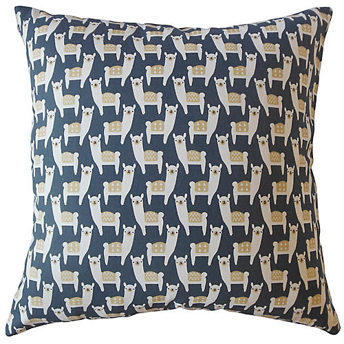 Malene Pillow, Blue/Multi