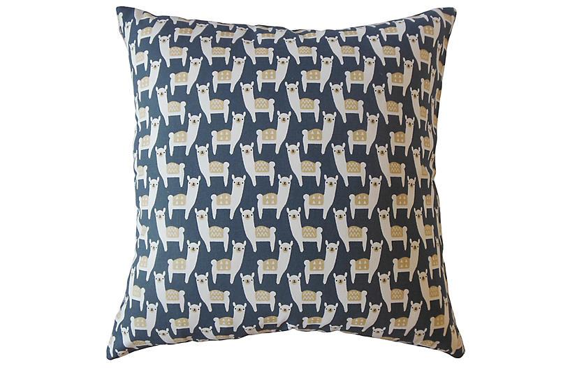 Malene Pillow, Blue/Multi