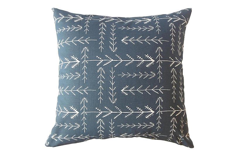 Brynn Pillow, Indigo/White
