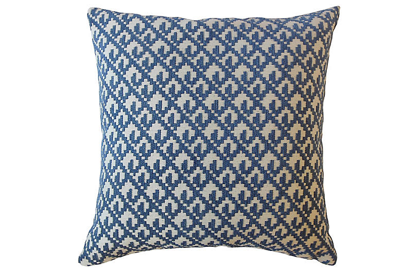 Serra 18x18 Pillow, Denim