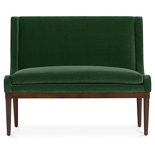 Hanson Banquette, Emerald Velvet