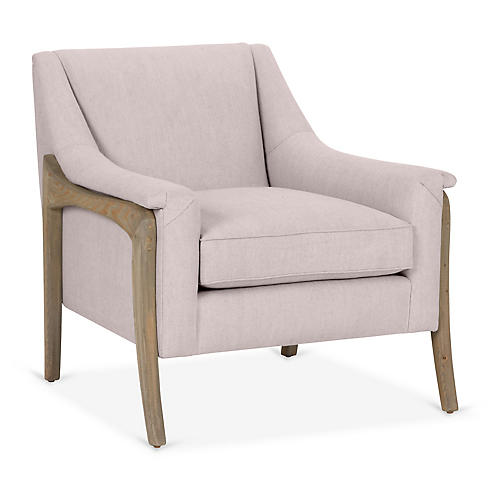 Risa Accent Chair, Lilac Linen