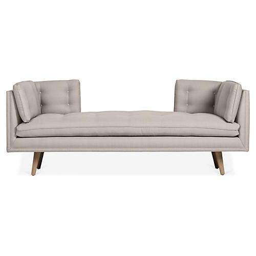 Burlington Daybed, Gray Linen