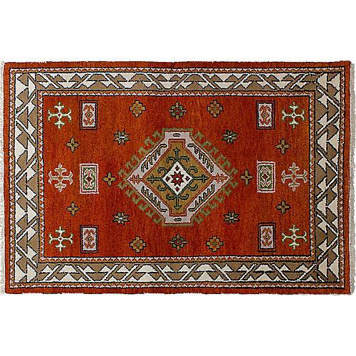 "4'1""x6' Royal Kazak Rug, Orange"