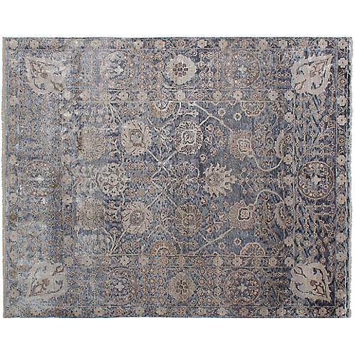 "7'8""x9'8"" Jules Oushak Hand-Knotted Rug, Smoke"