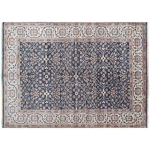 """6'x8'7"""" Jules Oushak Hand-Knotted Rug, Gray"""