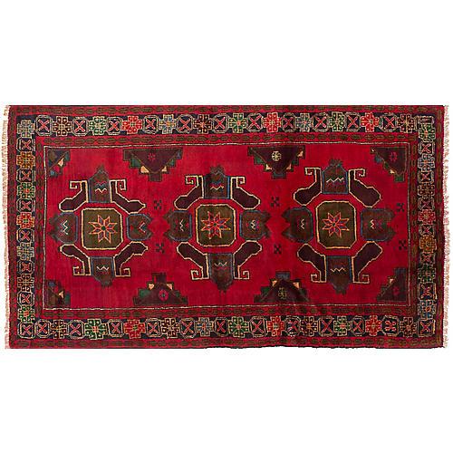 """3'5""""x6'3"""" Kazak Rug, Red"""