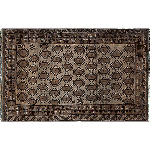 """3'1""""x5'3"""" Transition Rug, Brown"""