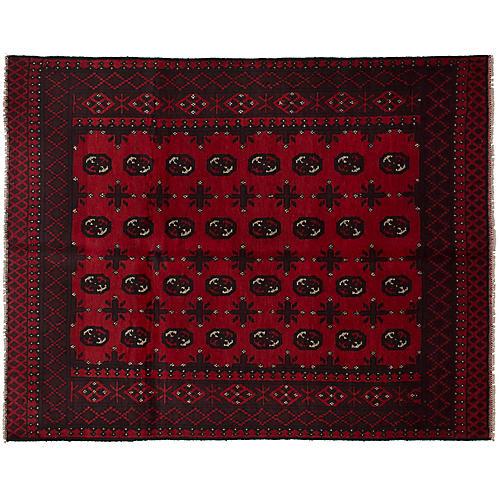 "4'10""x6'2"" Khal Mohammadi Rug, Red/Black"