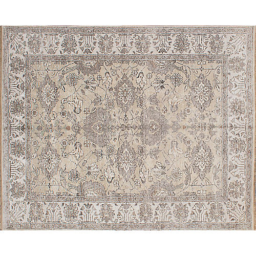 """7'11""""x9'11"""" Parklane Hand-Knotted Rug, Gray"""