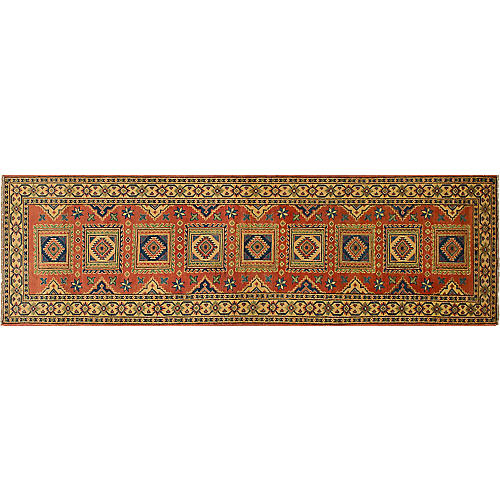 "2'9""x9'9"" Finest Gazni Runner, Copper"