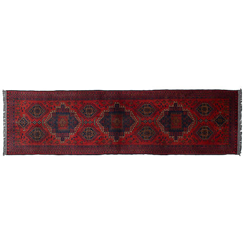 "2'6""x9'6"" Khal Mohammadi Runner, Red"