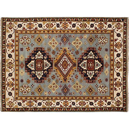 """9'x12'1"""" Royal Kazak Hand-Knotted Rug, Slate"""