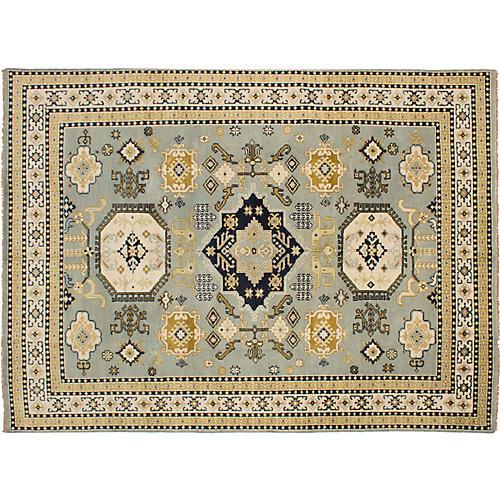 "8'10""x11'11"" Royal Kazak Hand-Knotted Rug, Olive"