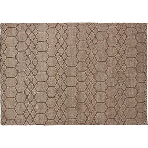 "5'5""x7'10"" Eternity Rug, Tan"