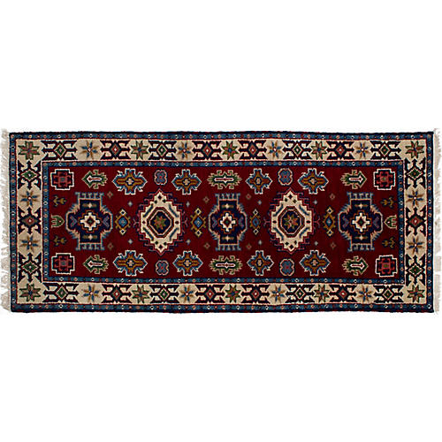 "2'9""x6'7"" Royal Kazak Rug, Red"