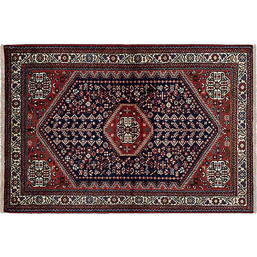 """3'4""""x5'1"""" Lily Rug, Brown"""