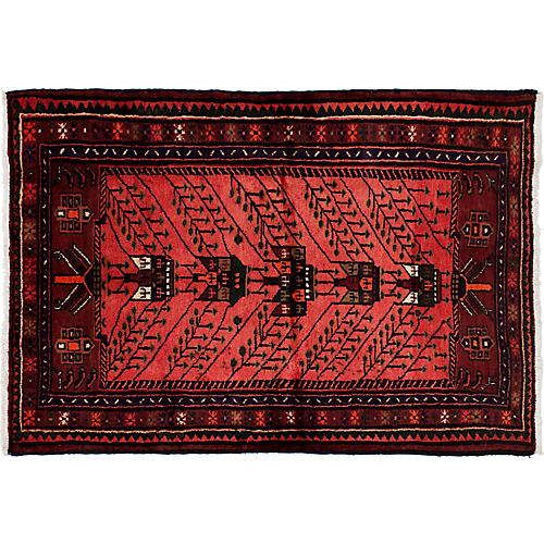 "3'3""x4'8"" Nora Rug, Red"