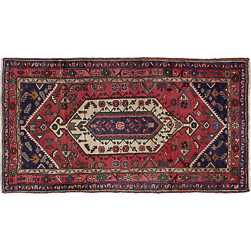 "3'5""x6'5"" Sadie Rug, Red"
