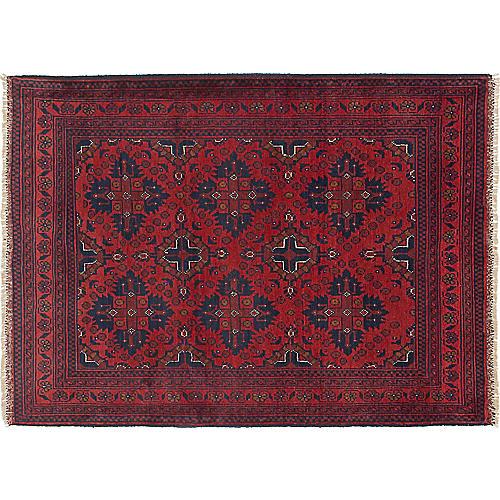"3'5""x4'9"" Finest Khal Mohammadi Rug, Dark Red"