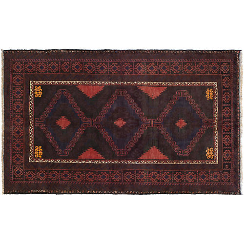 "3'7""x6' Iliza Rug, Brown"