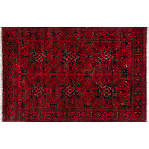"6'5""x9'9"" Anastasia Rug, Red"
