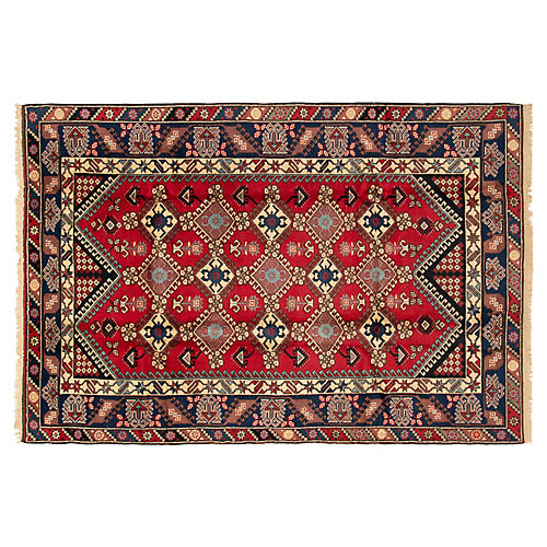 "6'6""x9'7"" Xander Rug, Red"