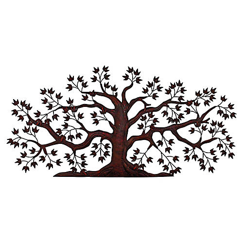 Calypso Tree Hand-Forged Wall Art, Rust