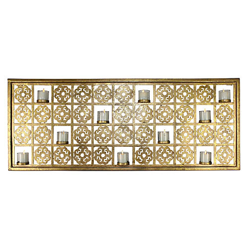 Judson Wall Art w/ Votives, Gold