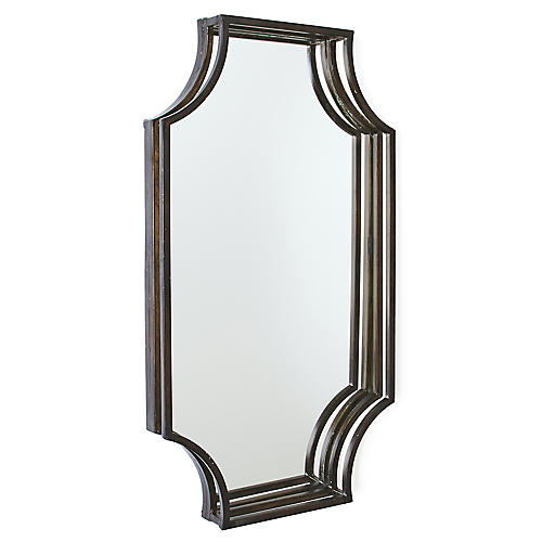 Perkin Wall Mirror, Matte Black