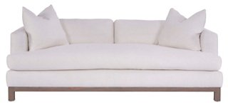 Greer Sofa, Ivory Linen. Hello Lovely, White French Home Decor for Fans of Country Interiors.