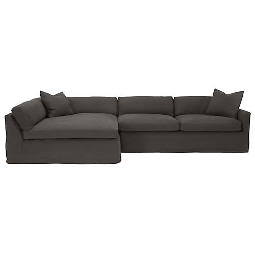 Anthony Sectional, Graphite Linen