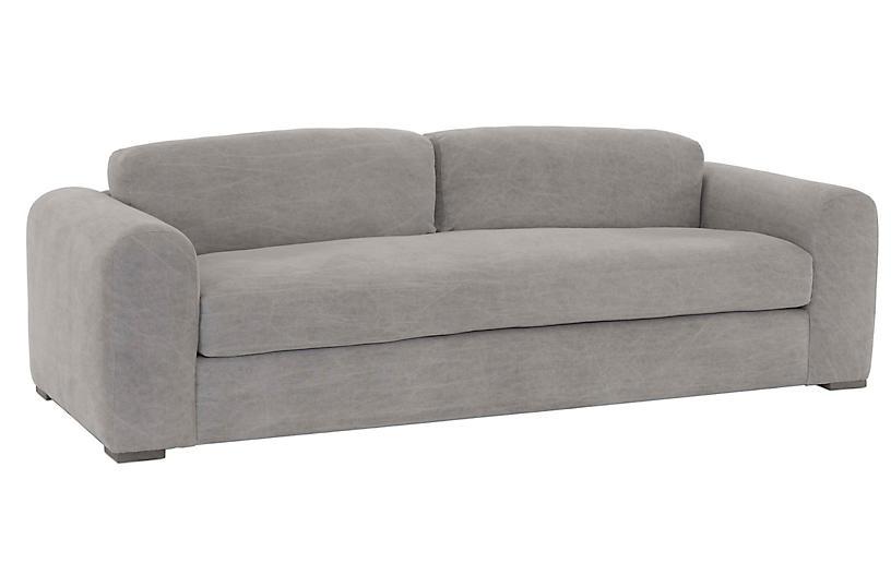 Porto Sofa, Gray Linen