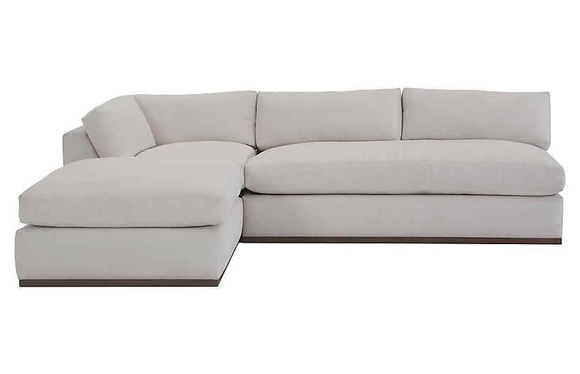 Pratt 3-Pc Modular Sectional, White Crypton