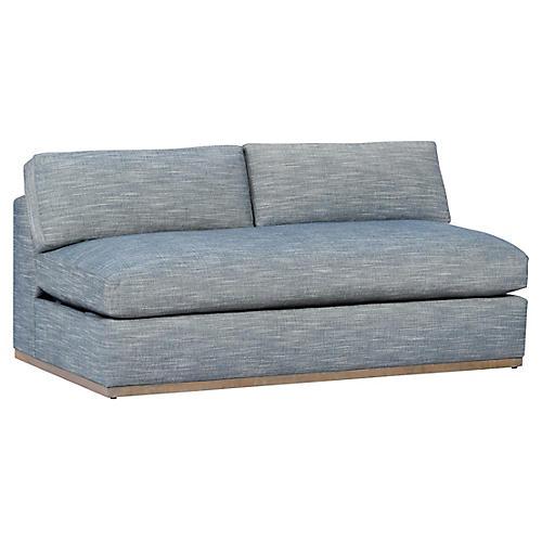 Pratt Armless Sleeper Sofa Indigo Crypton