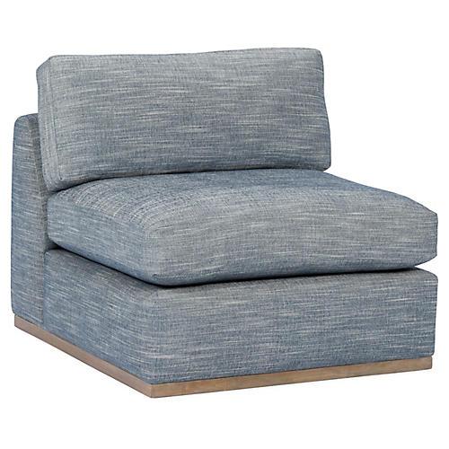 Pratt Armless Chair, Indigo Crypton