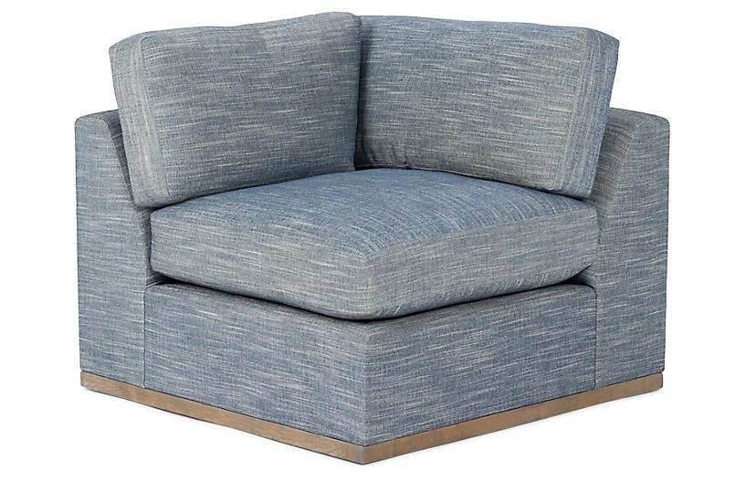 Awe Inspiring Pratt Corner Chair Indigo Crypton Unemploymentrelief Wooden Chair Designs For Living Room Unemploymentrelieforg