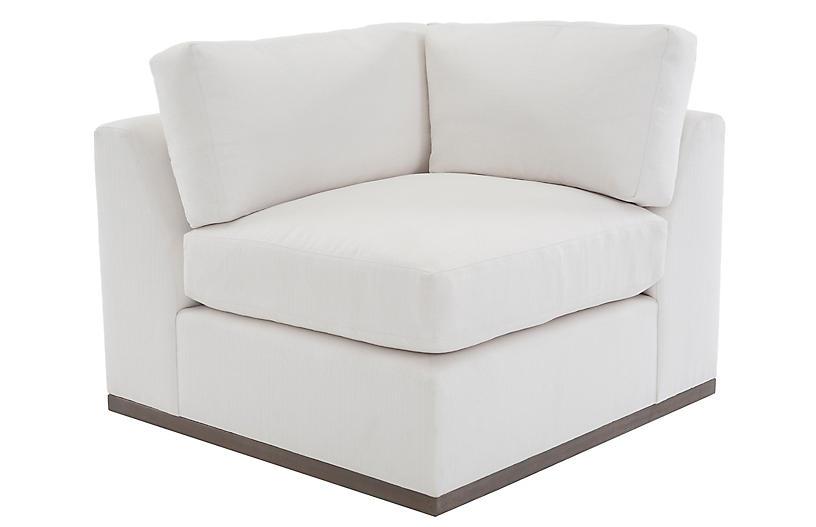 Pratt Corner Chair, White Crypton