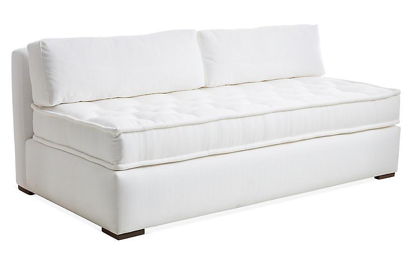 Lane Tufted Sofa White Crypton