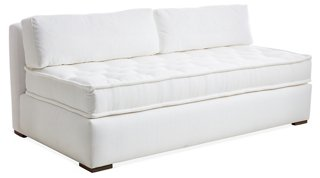 Lane Tufted Sofa, White Crypton